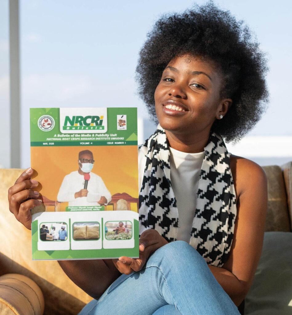 Woman with NRCRI Bulletin